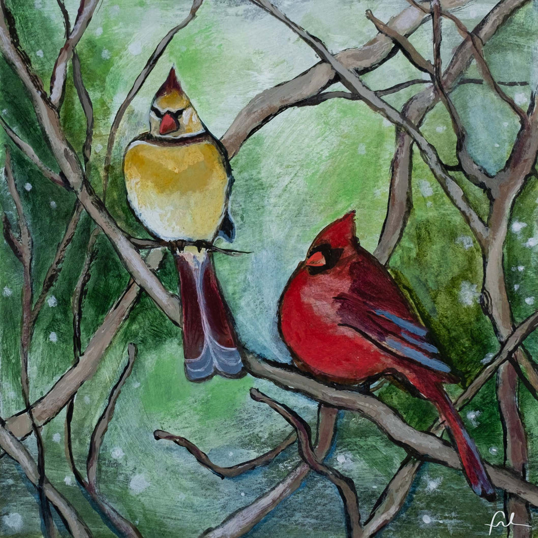 Winter Redbirds