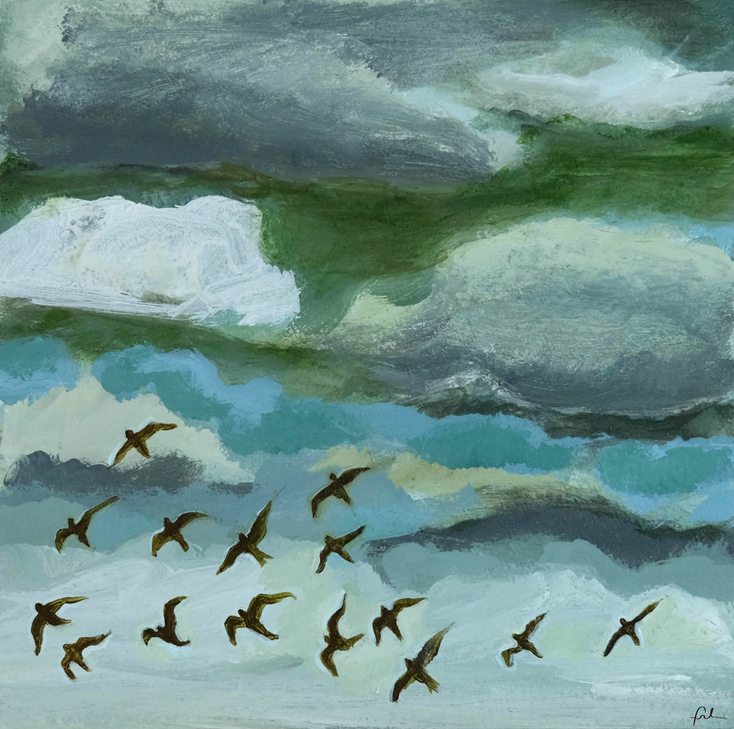 Blackbirds in Flight