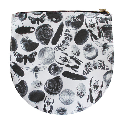 Large Bug Print Leather Clutch