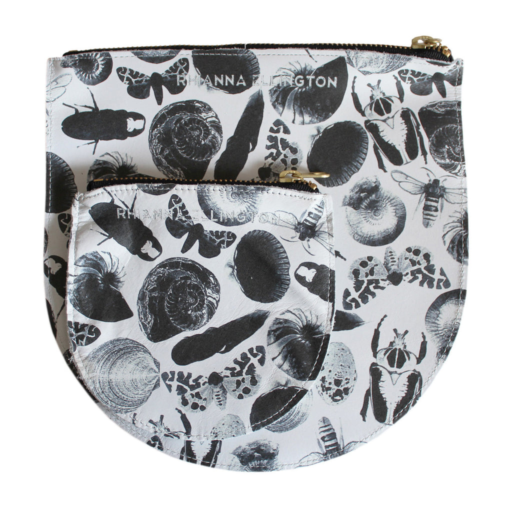 Bug Print Leather Purse and Clutch
