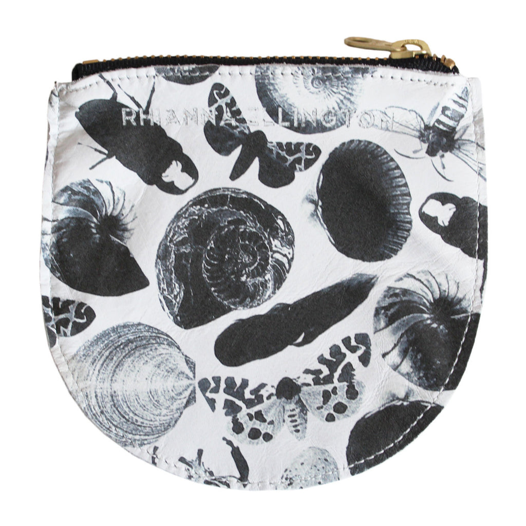 Small Bug Print Leather Purse