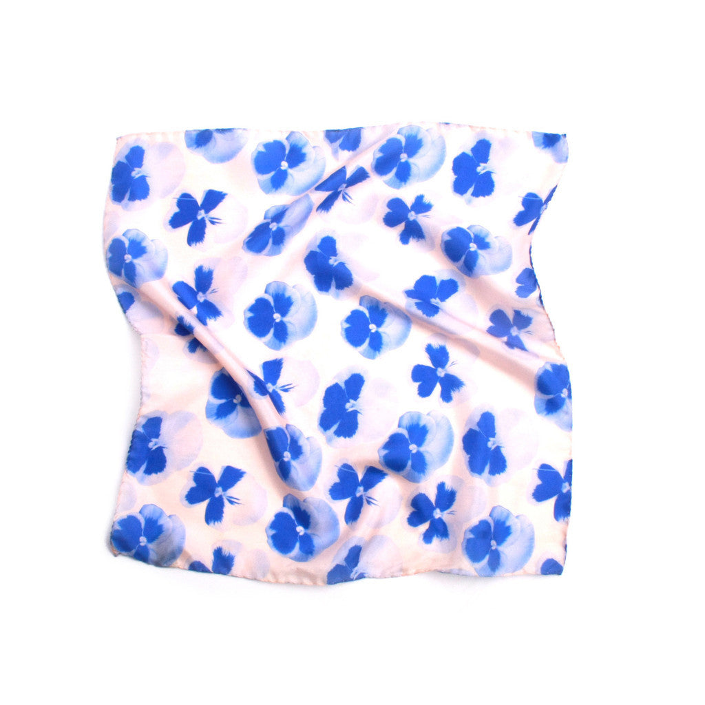 Pansy Print Pocket Square