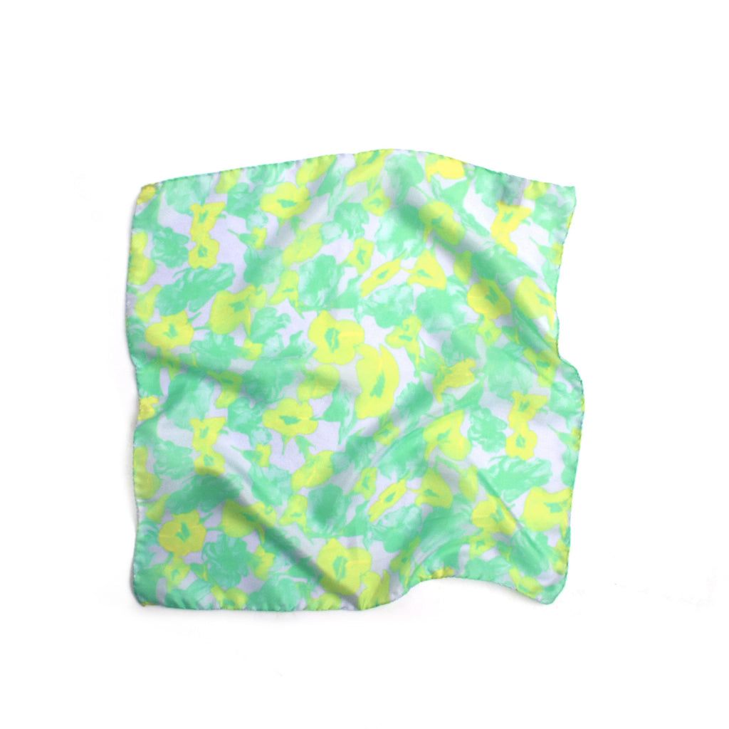 Pressed Flower Print Pocket Square