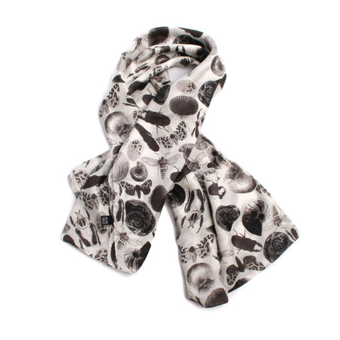Bugs and Shells Print Scarf