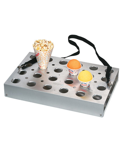 24-Hole Universal Vending Tray with Drip Pan