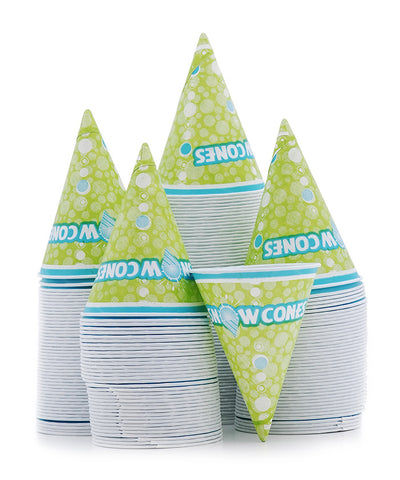 Snow Cone Cups - Printed Waxed Paper