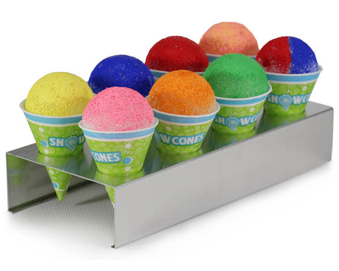 Snow Cone Cup Holder - 8 Slots - Aluminum Construction