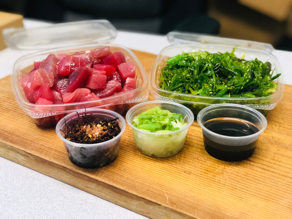 Poké , Henry's Shoyu AHI Poké and Seaweed Salad Kit (enough for 3 entreés)