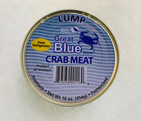 Crab - Lump Crab Meat, Pasteurized - 1 lb can