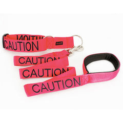 Friendly Dog Collars - Red 'CAUTION' Lead - 120cm