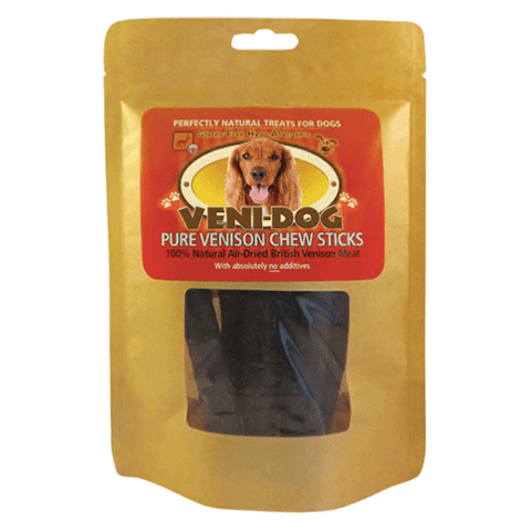 Veni-Dog - 100% Natural Pure Venison Meat Chew Sticks 6 sticks - 100g