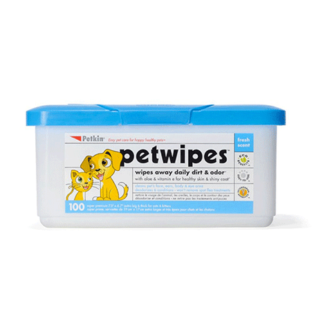 Petkin - Pet Wipes for Dogs and Cats (100 Pack)