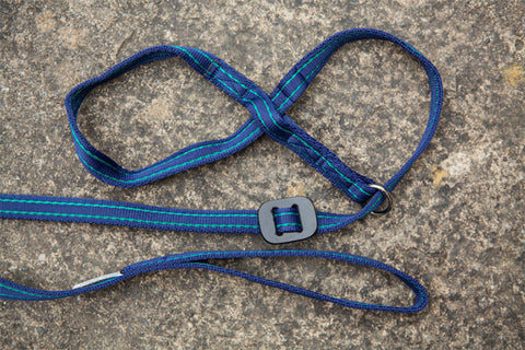 Gencon – All-In-1 Dog Headcollar & Lead In One - Navy Blue/Jade
