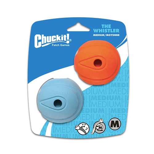 Chuckit! - Canine Hardware Whistler Balls Pack of 2 Fits Balls