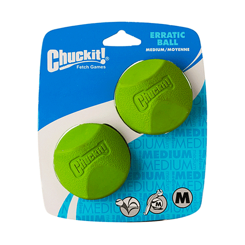 ChuckIt! - Erratic Ball 2 Pack - Medium 6.5cm