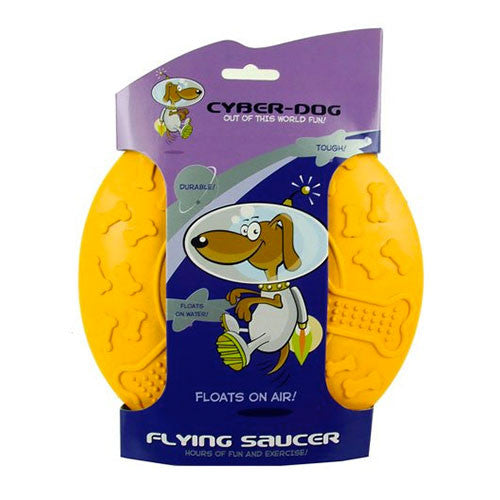 Cyber-Dog - Dog Toy Flying Saucer UFO Rubber - Large