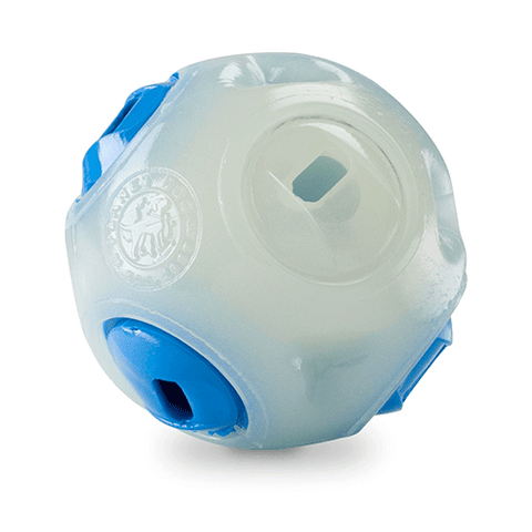 Planet Dog - Orbee-Tuff Whistle Ball (Wood Chuck friendly) - Glow/Blue