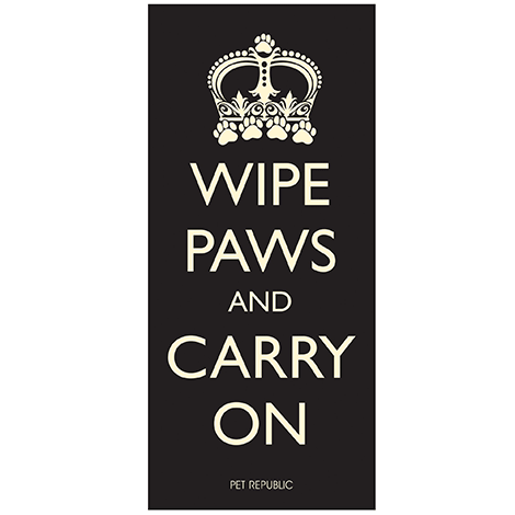 Pet Rebellion - Wipe Paws and Carry On Door Mat - 100cm x 45cm