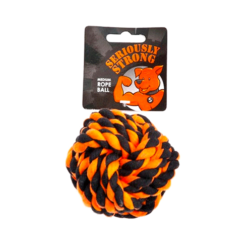 Petface - Seriously Strong - Rope Ball - Medium