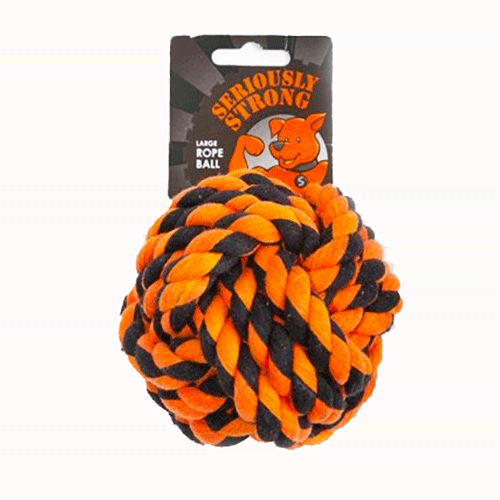 Petface - Seriously Strong - Rope Ball - Large
