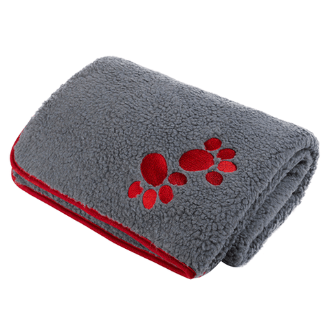 Petface - Oxford Sherpa Fleece Comforter - Red Paws