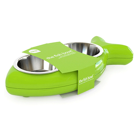Hing Designs - Cat Bowl - Fish - Green
