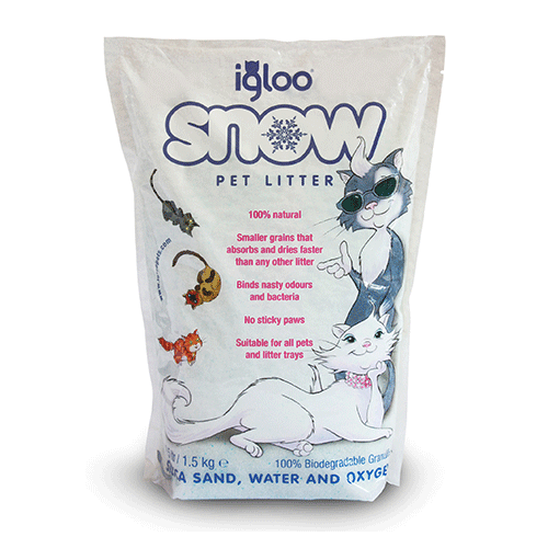 Igloo Pets - Snow Silica Sand Pet Litter - 1.5kg