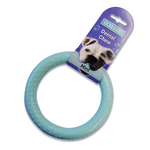 Dog & Co - Nylon Dental Chew Ring - Large - 14cm - Mint