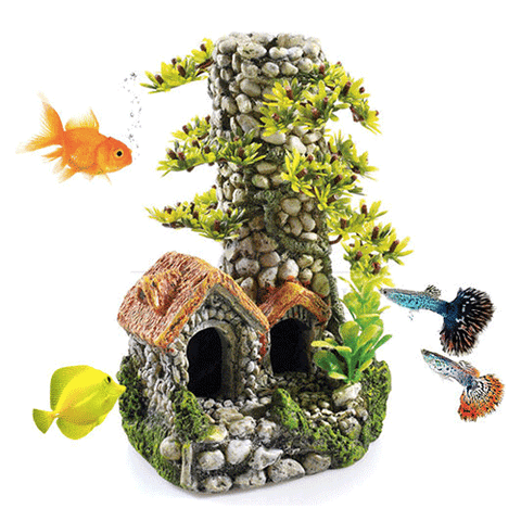 Classic - Polyresin Cobbled Chimney - 19cm
