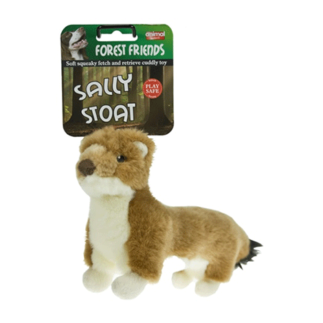 Animal Instincts - Sally Stoat Plush Dog Toy - Large