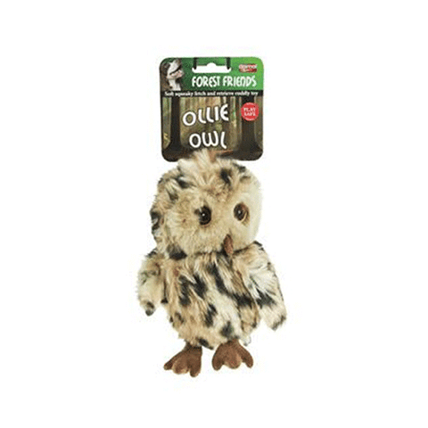 Animal Instincts - Ollie Owl Plush Dog Toy - Large