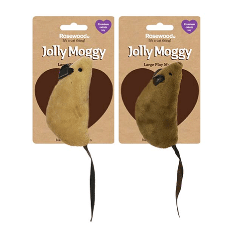 Jolly Moggy - Natural Wild Catnip Toy - Play Mouse - Large