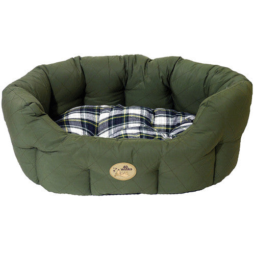 Rosewood - 40 Winks Bedding - Country - Green/Check - 24""