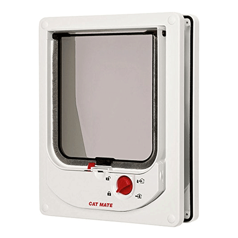 Pet Mate - Electromagnetic Cat Flap - White
