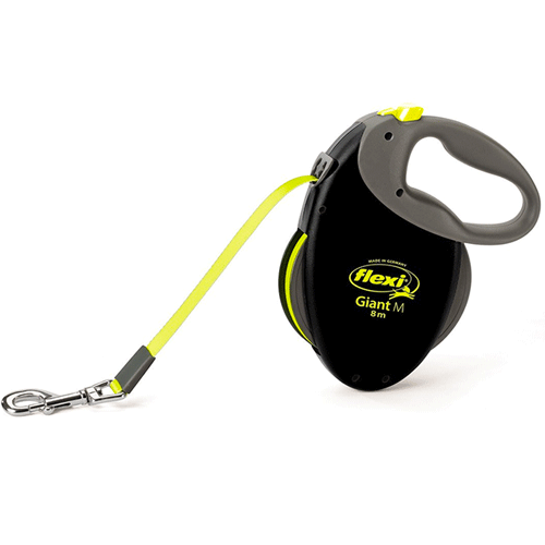 Flexi - Giant Retractable Lead Tape - Medium - Neon Yellow
