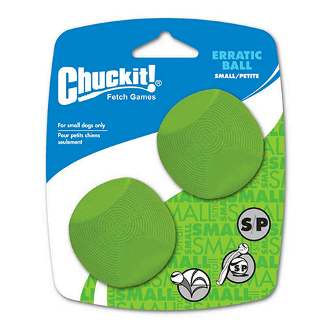 ChuckIt! - Erratic Ball 2 Pack - Small - 5cm