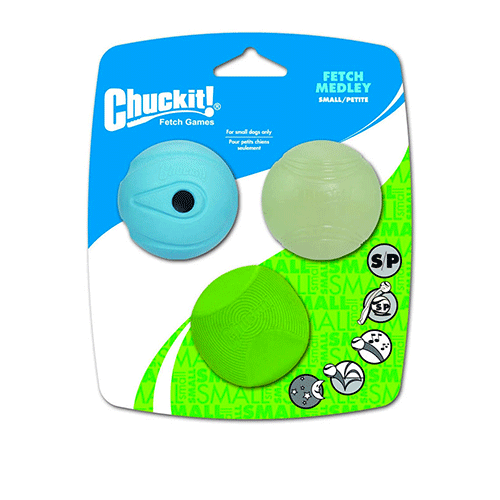 ChuckIt! - Fetch Medley 3 Pack Assorted - Small