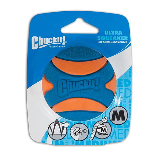 ChuckIt! - Ultra Squeaker Ball 1 Pack - Medium 6.5cm
