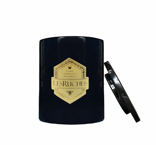 Lesruches Lemon Verbena Organic Beeswax Luxury Candle with Hatbox