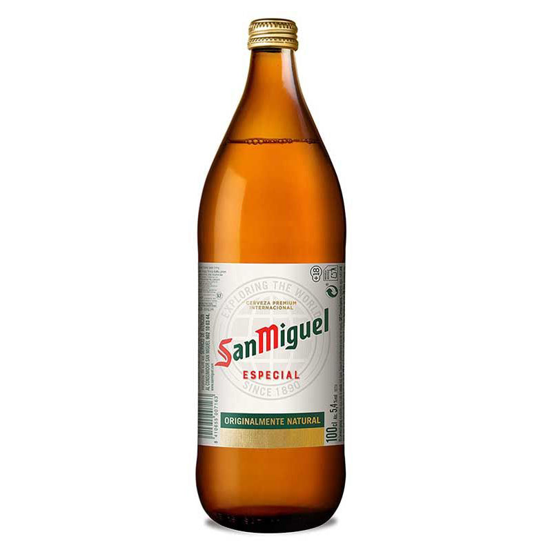 San Miguel Especial Bottles 1000 ml x 6 pack.