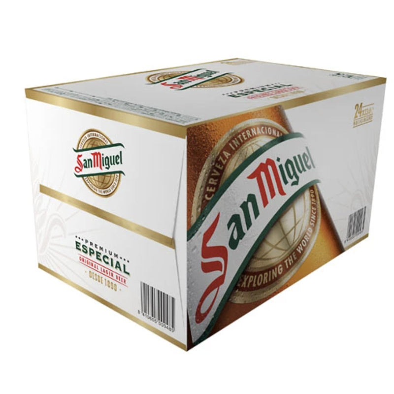 San Miguel Especial 24 pack. Various sizes.