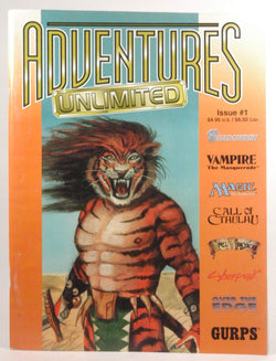 Adventures Unlimited Magazine #1 Spring 1995 Shadowrun Gurps Vampire Cthulhu, by various