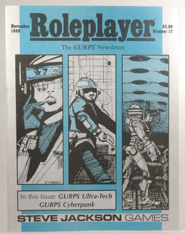 Roleplayer: The GURPS Newsletter #17 November 1989, by