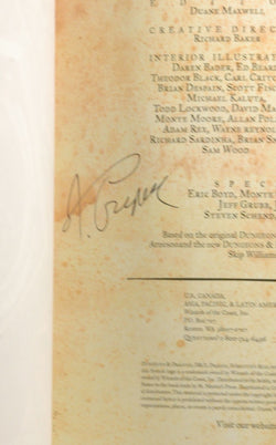 Monsters of Faerun Dungeons Dragons d20, by James Wyatt, Rob Heinsoo Signed