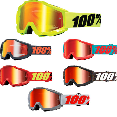 100% Accuri Red Mirror Lens Goggle 2018