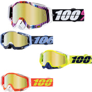 100% Racecraft Gold Mirror Lens Goggle 2018