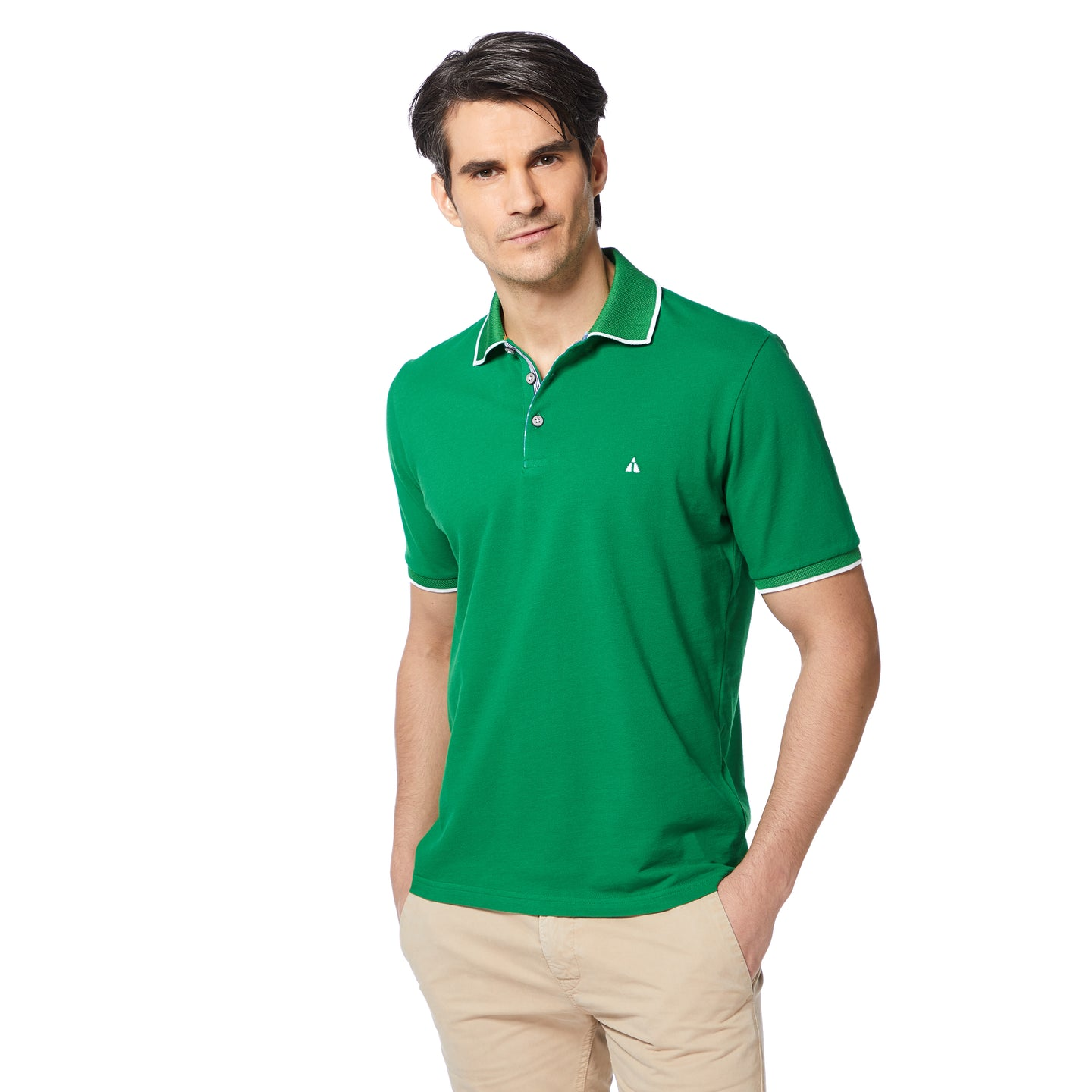 Piping-look Pique Poloshirt MICHAEL