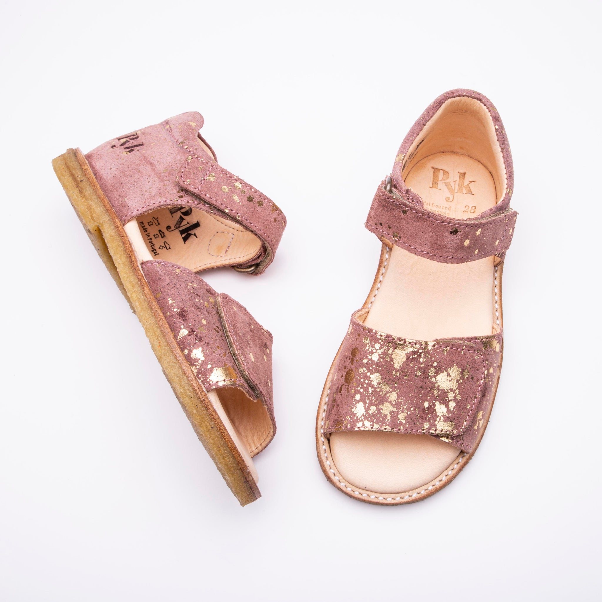 Line Rose Splash sandals for children Pyk Copenhagen