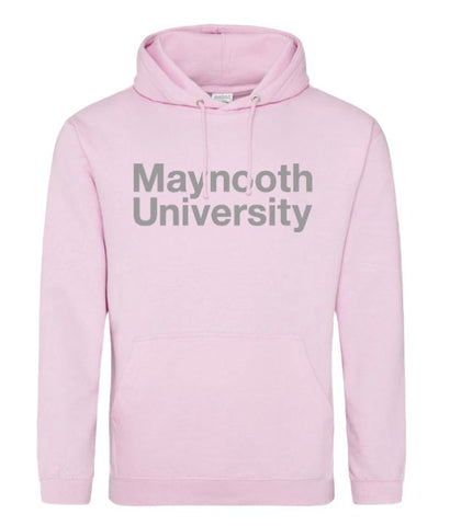 Maynooth University Baby Pink Crested Hoodie