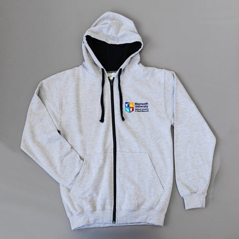 Maynooth University Grey/Navy Crested Hoodie